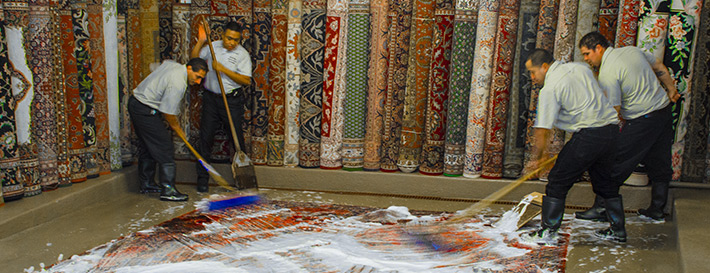 Rug Shampooer-Persian rug washing