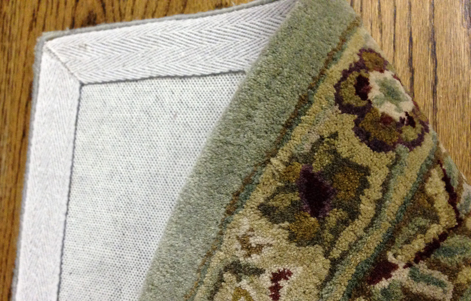 hand tufted rug front and back, Behnam Rugs Dallas