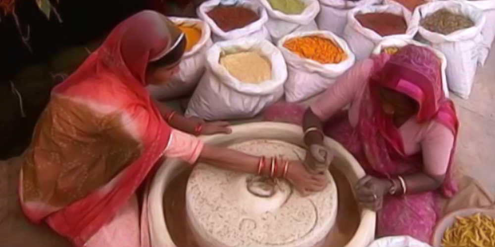 Women Making Vegetable Dye